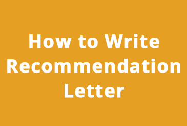 how to write recommendation letter